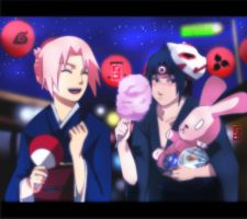 SASUSAKU: Festival thingies by tenchufreak