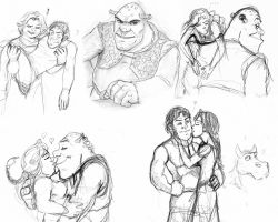 Shrek sketchdump wallpaper by JesusIsMyHomie