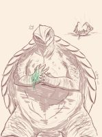 Gamera is pissed off by SugarBeasts-07