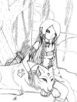 Indian Wolf by TwistedXTransistor