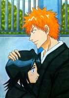 Ichigo x Rukia: I will protect you by dagga19