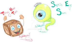 Tiny Box Tim and Septic Eye Sam by Daughter-of-Kabegami