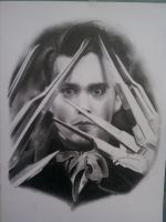 Edward Scissorhands WIP by whitneyw