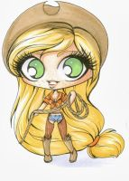 Mini chibi Applejack by Forunth