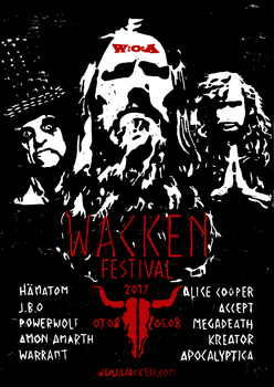 Wacken 2017 (inofficial poster) by OleNit