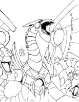 Cyber End Dragon - Outlined by inukagome123