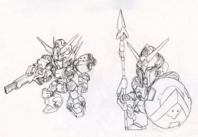 SD Gundam by biomonkz