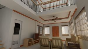 A Two-Storey House Interior by adrian-tm