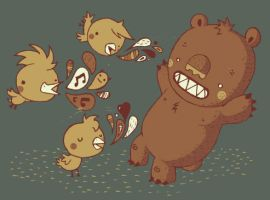 BIRDIES VS THE BEAR by Bisparulz