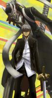P4 Souji Seta and Izanagi by Pink-Shimmer