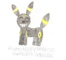 Happy Umbreon by Clueless825