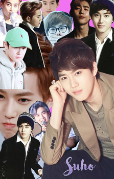 Suho collage by HannieTheDeer