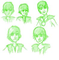 Hiccup Sketches by Larry-and-Lazel
