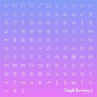 Simple Line Icons Available in Sketch PSD  SV by freebiespsd