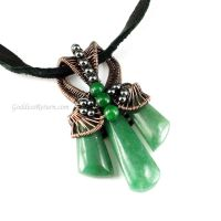 Aventurine Cobra Head Bail Pendant by sylva