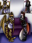 Dragon and Fox anthro TG TF p4 by AkuOreo