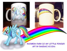 Rainbow Dash Mug by kojika