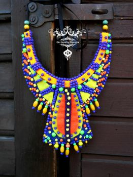 psy tribal african inspired work ani jewelry by AniDandelion