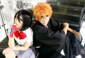 Kuchiki Rukia and Kurosaki Ichigo Cosplay - Bleach by SailorMappy