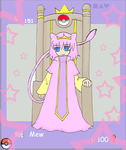 Mew Gijinka - royal theme by WingsOfImagination