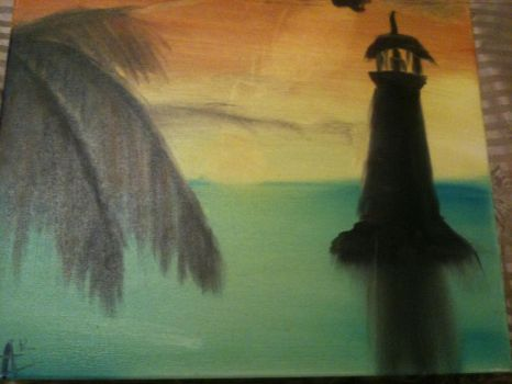 Painting: Lighthouse by Sabbaru