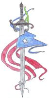 Puerto Rian Flag and Sword by PRkid93