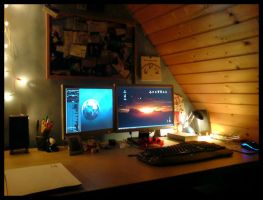 My Workplace at home by Br1ce