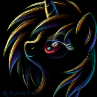 Vinyl Scratch Neon Portrait by Kitty-Ham