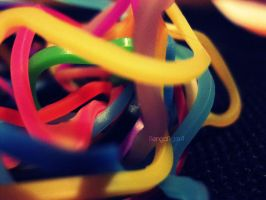Day 204: Silly Band Mess by BengalTiger4