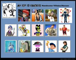 My Top 13 Favorite Handsome Villains/Heroes by Toongirl18