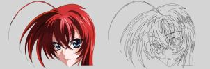 Rias Gremory Preview MegaPAINTING by barame10