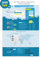 Premium Travel Web design Template PSD by cssauthor