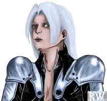 Sephiroth colored by Rayne-Wolfenstain
