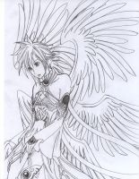 Cloud the 6 wings Arch-angel by cloudstrifejen