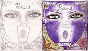 More poster designs for perfume (Pomona) by icediamond7