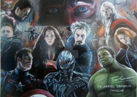 Avenger Age of Ultron pastel drawing by FawnCorner
