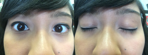 I'm wearing different Anime eyeliner eye makeup 1 by Magic-Kristina-KW