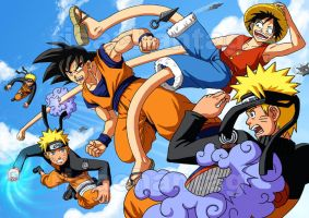 DBZ One Piece Naruto: Melee by Risachantag