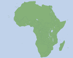 Blank Africa map by Arminius1871
