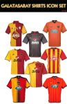 Galatasaray Shirts Icon Set by 1905
