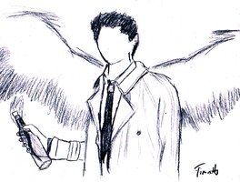 Castiel faceless with wings by NeoNexxa