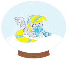 Crystal  Derpy Hooves in Snow Globe My Little Pony by sallycars