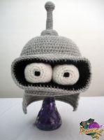 Crocheted Bender Hat by melibusla