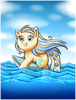 My Little Pony OC- Star Ocean- Swimming by Sweetochii