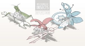 Mechanical Insects by FlyQueen