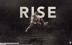 Derrick Rose Rises by Angelmaker666
