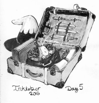 Witch Craft Tools - Inktober Day 5 by stasiaarts