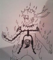 Naruto Uzumaki juubi mode by BlackShot96XD