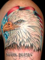 EAGLE AND FLAG by amduhan