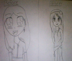 Before and After 2 by JustTheGirlOnFire
